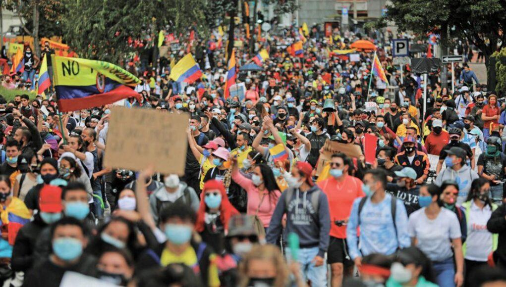 COLÔMBIA   Manifestação Bogotá 5 de maio
